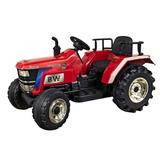 Blazin Wheels 12-Volt Battery Operated Big Wheeled Tractor, Red