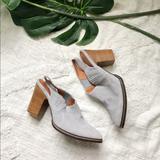 Anthropologie Shoes   Anthropologie Mini Blue Suede Cowboy Boots   Color: Blue/Silver   Size: 8