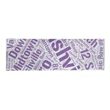East Urban Home Flatweave Shag Purple Area Rug Chenille in Indigo, Size 96.0 H x 30.0 W x 0.25 D in   Wayfair D2A5FDE84A0247C281DA445B66403070