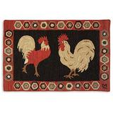 Chandler 4 Corners Artist-Designed Two Roosters Hand-Hooked Wool Accent Rug (2' x 3')