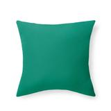 """Knife-Edge Square Outdoor Pillow - Dahlia Blooms Neutral, 16"""" Square - Grandin Road"""
