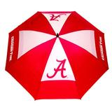 "Team Golf NCAA Alabama Crimson Tide 62"" Golf Umbrella with Protective Sheath, Double Canopy Wind Protection Design, Auto Open Button"