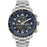 Analog-digital Promaster Blue Angels Skyhawk A-t Stainless Steel Bracelet Watch 46mm - Metallic - Citizen Watches