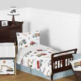Sweet Jojo Designs Construction Truck 5 Piece Toddler Bedding Set Polyester | Wayfair Construction-RD-BU-Tod