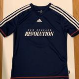 Adidas Shirts & Tops | Adidas New England Revolution Soccer Shirt | Color: Blue/White | Size: Youth Large