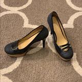 Nine West Shoes | Black Platform Heels | Color: Black | Size: 9.5