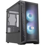 Cooler Master MasterBox MB311L ARGB Airflow Micro-ATX Tower with Dual ARGB Fans, Fine Mesh Front Panel, Mesh Intake Vents, Tempered Glass Side Panel & ARGB Lighting System