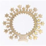 """Classical Church Goods 6.5"""" Halo of Stars for Mary Statue - Immaculate Conception - Ringed Halo - Solid Brass - (CCG-355)"""