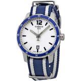 Quickster Silver Dial Unisex Watch T0954101703701 - Blue - Tissot Watches