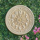 Ashland Outdoor Wall Clock - White - Grandin Road