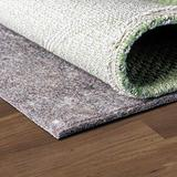 """Unique Loom Dual Surface Felt and Rubber Non-Slip Rug Pad Felt & Rubber 1/4"""" Thick, 11 Feet 11.5 Inch x 8 Feet 11.5 Inch, Gray"""