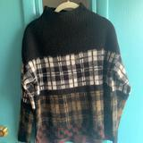 Anthropologie Sweaters | Anthropologie Plaid Mock Turtle Sweater | Color: Black | Size: S
