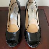 Michael Kors Shoes   Michael Kors Black Peep Toe Wedges   Color: Black   Size: 9.5m