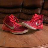 Nike Shoes   A Red Pair Of Nike Hyper Dunks Are For Sale   Color: Red/Silver   Size: 9.5