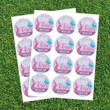 CPS 72 Piece Bunny Kisses Personalized Sticker & Treat Bag Poly-Coated Disposable Party Favor Set in Indigo | Wayfair 68990
