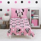 Disney Minnie Mouse Blushing Minnie 4 Piece Toddler Bedding SetPolyester in Pink | Wayfair 6388380