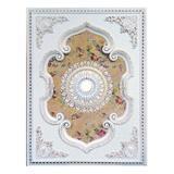 Artistry Lighting Floral Center Rectangle Ceiling Medallion Plastic in White, Size 2.5 H x 63.0 W x 47.0 D in   Wayfair ART1216-F1-080