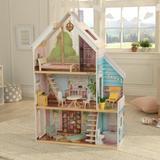KidKraft Zoey Dollhouse Manufactured Wood in Brown, Size 49.7 H x 12.4 W x 26.4 D in | Wayfair 65960