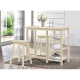 Latitude Run® Kardinya 3 Piece Counter Height Dining Set Wood in Brown, Size 36.0 H x 43.0 W x 19.0 D in | Wayfair ACB8B566DAF543239B5EFC33632EC96F