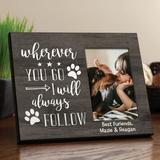 Red Barrel Studio® Lively Wherever You Go Personalized Picture Frame in Brown, Size 8.0 H x 10.0 W x 0.75 D in | Wayfair