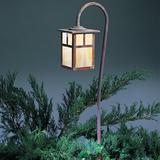 Millwood Pines Hylan 1-Light Pathway Light in White, Size 36.0 H x 6.0 W x 6.0 D in   Wayfair LV36-M6ECS-MB