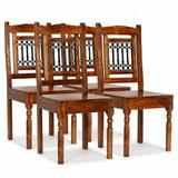East Urban Home Parkville Solid Wood Slat Back Side Chair in Wood in Brown, Size 39.4 H x 16.9 W x 16.9 D in | Wayfair