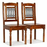 East Urban Home Oneill Solid Wood Slat Back Side Chair in Brown Wood in Brown/Red, Size 39.37 H x 16.93 W x 16.93 D in | Wayfair
