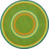 Joy Carpets Geometric Retro Area Rug Nylon, Size 64.0 W x 0.5 D in | Wayfair 1726H-06