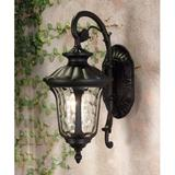 Special Lite Products Floral 1-Light Outdoor Wall Lantern Glass/Metal in Brown, Size 15.0 H x 10.5 W x 10.5 D in | Wayfair F-1947-CP-BV