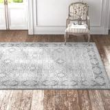 Kelly Clarkson Home Alexander Vintage Persian Oriental Taupe/Area Rug Polyester in Gray, Size 122.0 H x 94.0 W x 0.472 D in | Wayfair