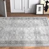 Kelly Clarkson Home Alexander Vintage Persian Oriental Taupe/Area Rug Polyester in Gray, Size 91.0 H x 63.0 W x 0.472 D in | Wayfair