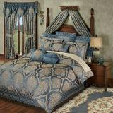 Castleton Comforter Set Steel Blue, Queen, Steel Blue