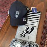 Adidas Accessories   Adidas San Antonio Spurs Hat And Nba Scarf   Color: Black   Size: Os