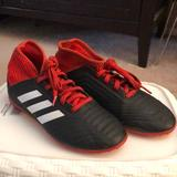 Adidas Shoes   Adidas Indoor Soccer Cleats For Kids   Color: Red   Size: 1b