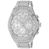 GUESS Men's Analog Watch with Stainless Steel Strap, Silver, 24 (Model: GW0059G1)