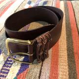 Anthropologie Accessories | Anthropologie Linea Pelle Leather Belt Size Med | Color: Brown | Size: Medium