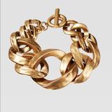 Zara Jewelry | Azara Limited Edition Chain Link Bracelet | Color: Gold | Size: Os