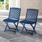 Carolina Folding Chairs, Set Of Two - Black - Grandin Road