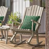 Newcomb Outdoor Rocking Chair - Ash Black - Grandin Road