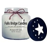 Falls Bridge Candles Acqua di Gio Scented Jar Candle, 16-Ounce, with Star Lid