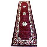Traditional Runner Red Black Beige Oriental Area Rug Persian Carpet King Design 101`(2 Feet X 7 Feet 3 Inch)