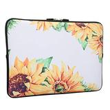 Sunflower Laptop Sleeve Bag 15-15.6 Inch, Water Repellent Neoprene Light Weight Computer Skin Bag, Notebook Carrying Case Cover Bags for 15-15.6Inch MacBook Pro, MacBook Air, Notebook Computer