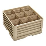 Vollrath CR10FFFF Traex? Full Size Glass Rack w/ (9) Compartments - (4) Extenders, Beige