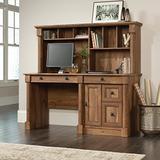 "Sauder Palladia Computer Desk with Hutch, L: 59.49"" x W: 23.54"" x H: 56.5"", Vintage Oak Finish"