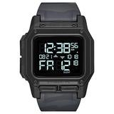 NIXON Regulus A1180 - Black Multicam - 100m Water Resistant Men's Digital Sport Watch (46mm Watch Face, 29mm-24mm Pu/Rubber/Silicone Band)
