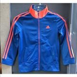 Adidas Jackets & Coats   Adidas Youth Jacket Sz 7 Blue Zip Embroidered   Color: Blue/Pink   Size: 7g
