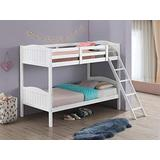 Coaster Home Furnishings Pauline Solid Wood Twin Over Twin Bunk Bed, White