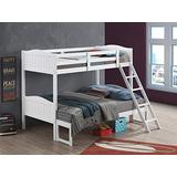 Coaster Home Furnishings Pauline Solid Wood Twin Over Full Bunk Bed, White