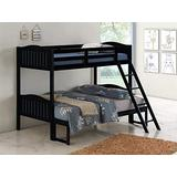 Coaster Home Furnishings Pauline Solid Wood Twin Over Full Bunk Bed, Black