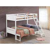 Coaster Home Furnishings Armand Solid Wood Twin Over Full Bunk Bed, White